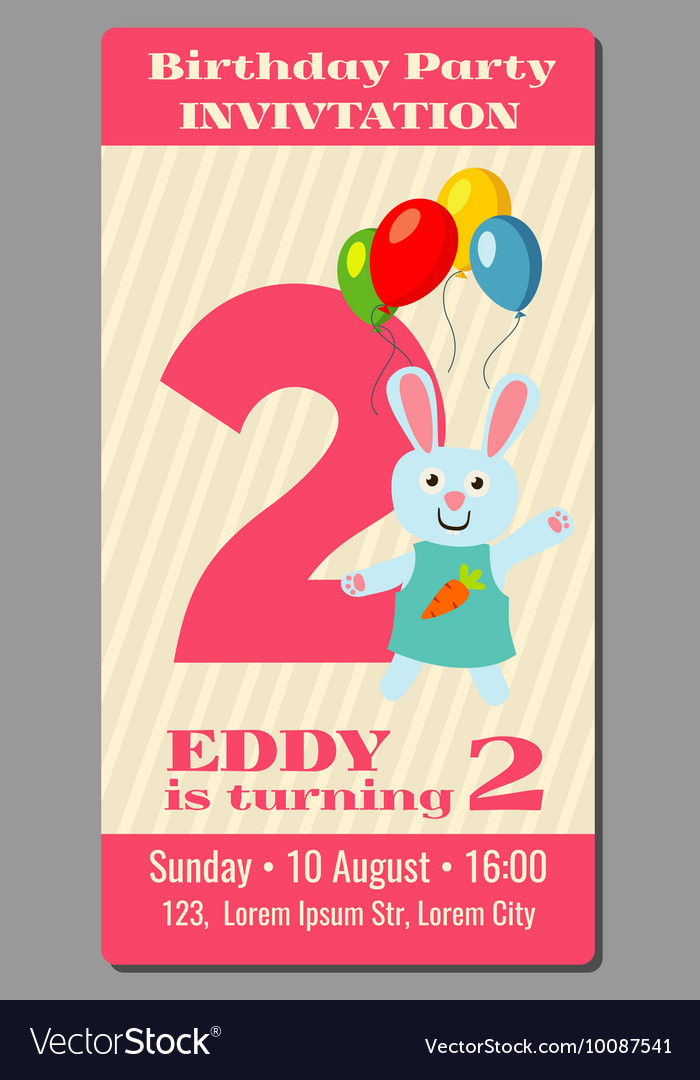 Birthday anniversary party invitation card with