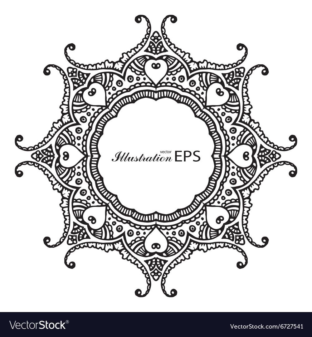 Black frame mandala pr Royalty Free Vector Image