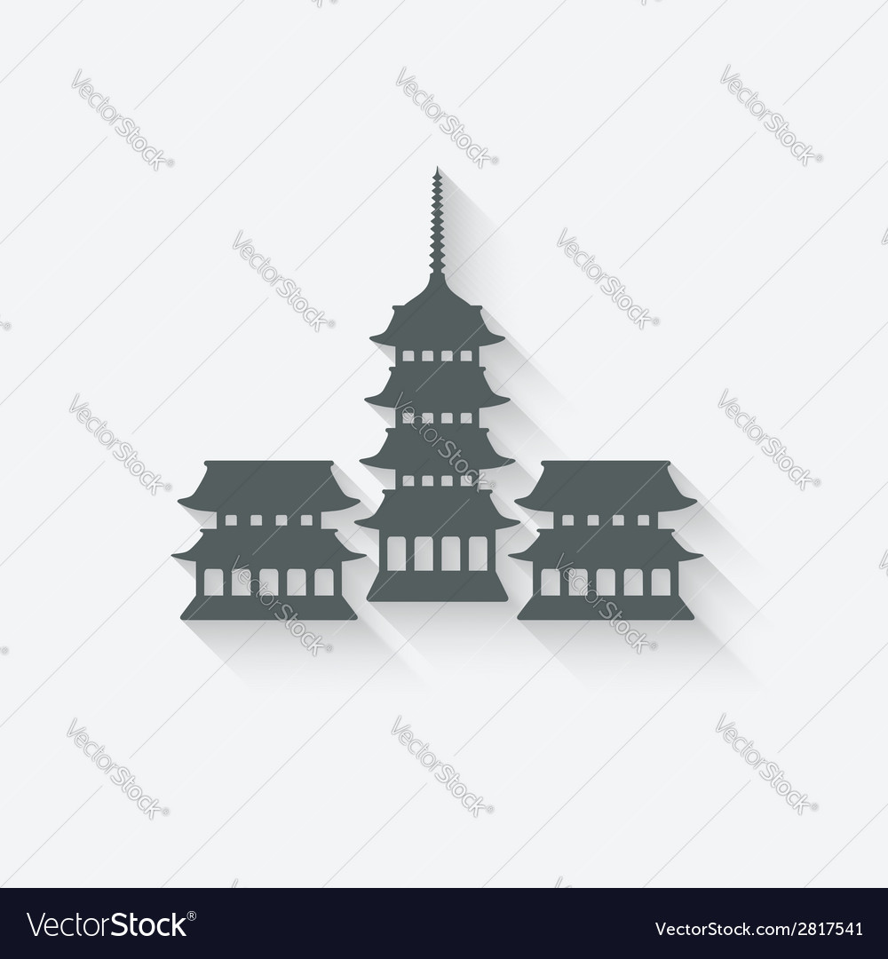 Buddhist temple design element