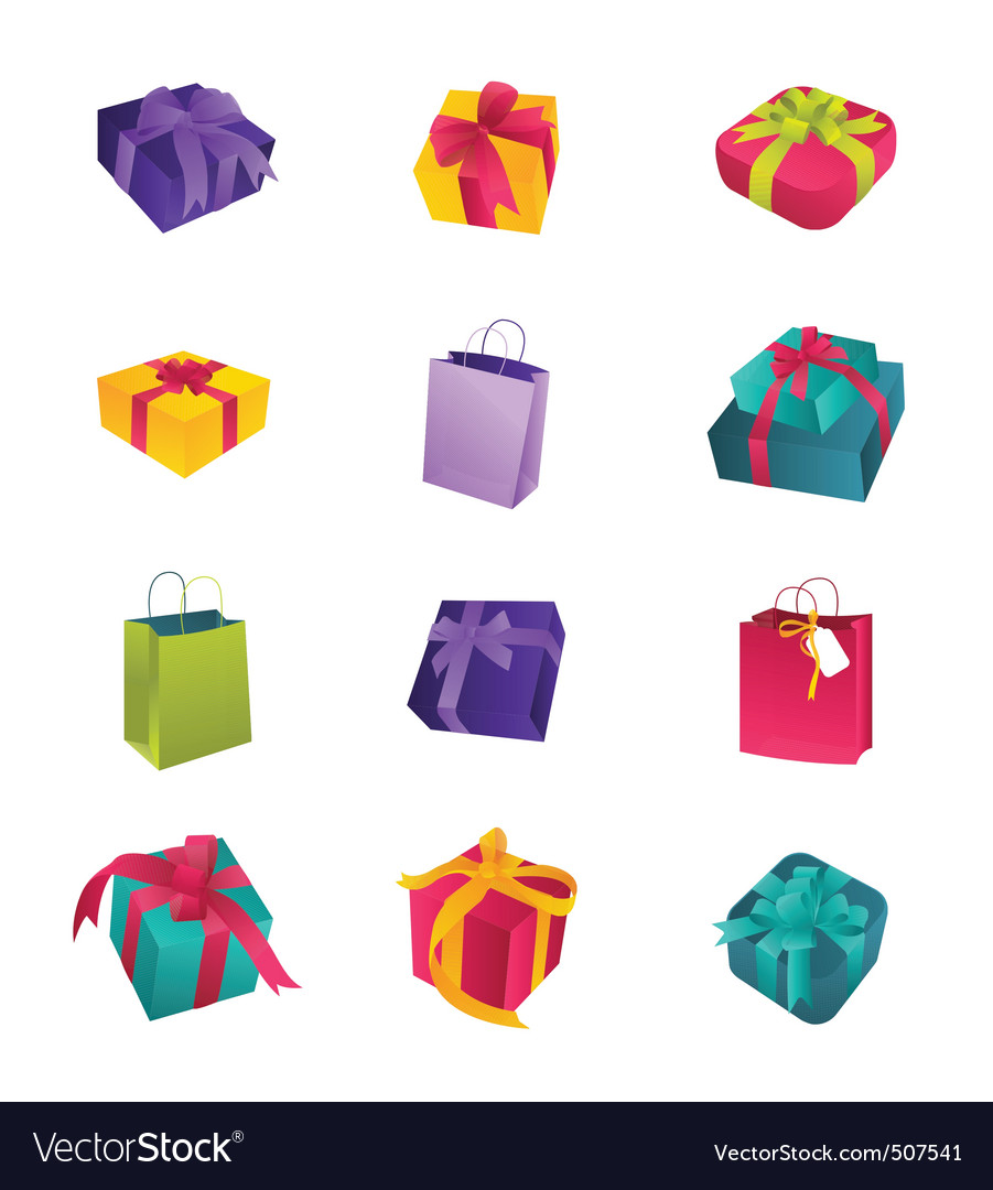 Colorful birthday gifts