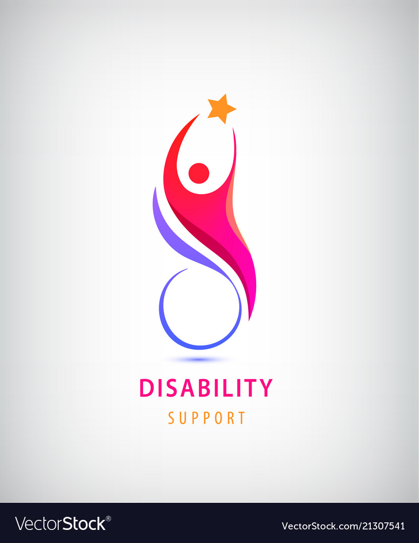 Disabled people support sport help logo