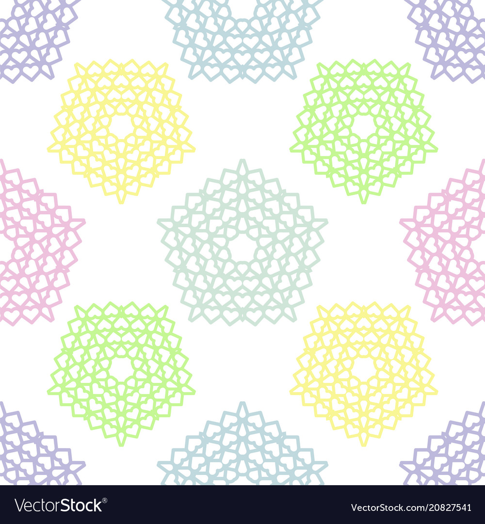 Festive pastel colors seamless pattern