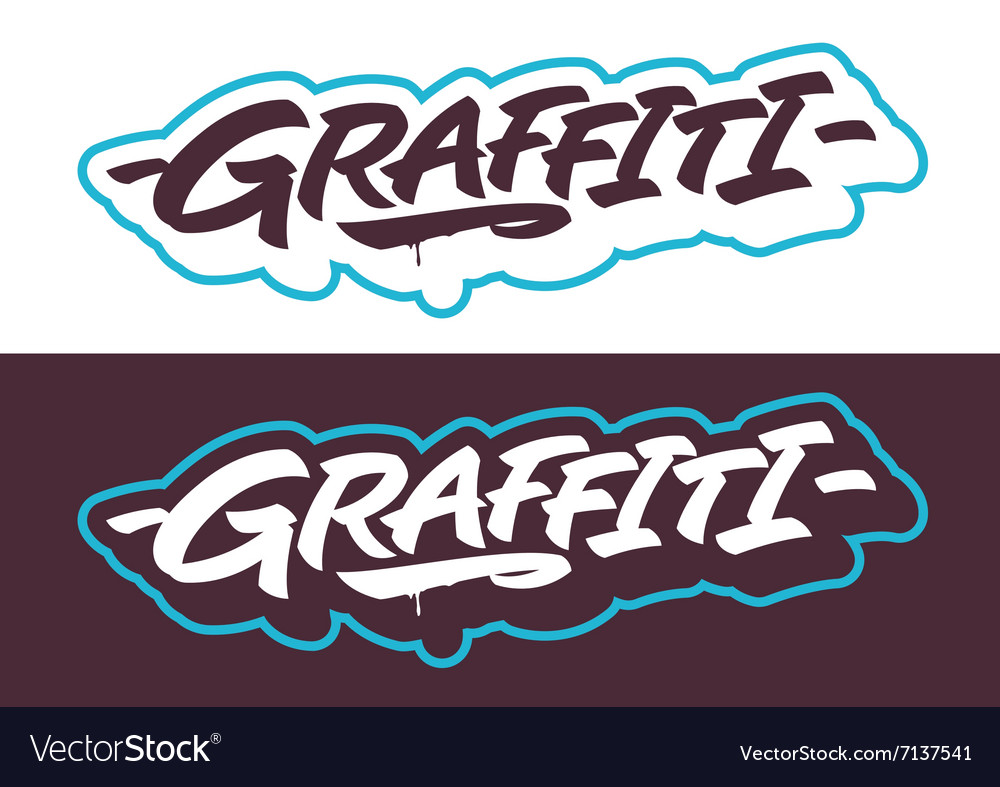 Graffiti lettering titles