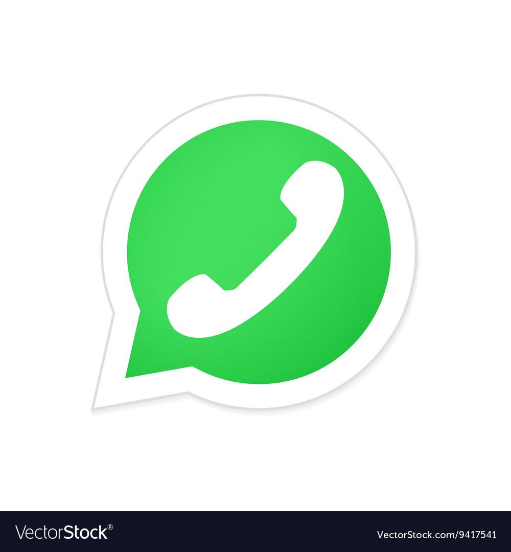 Modern phone icon in bubble speech