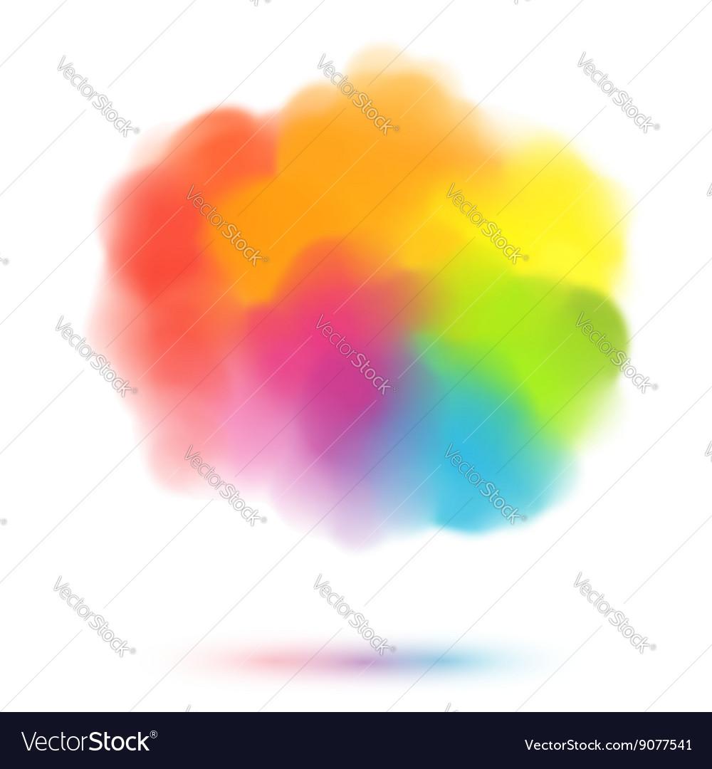 Rainbow colors blurred cloud