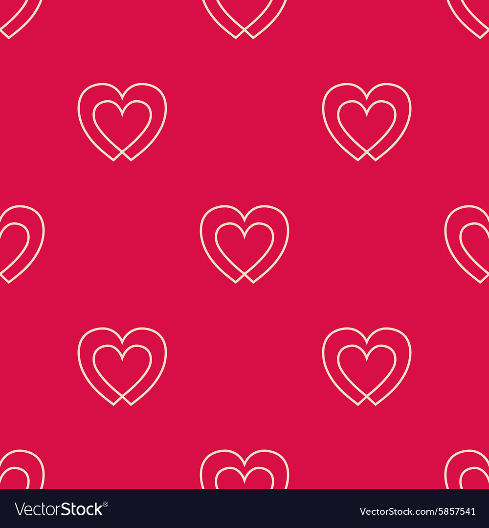 Seamless pattern with two hearts