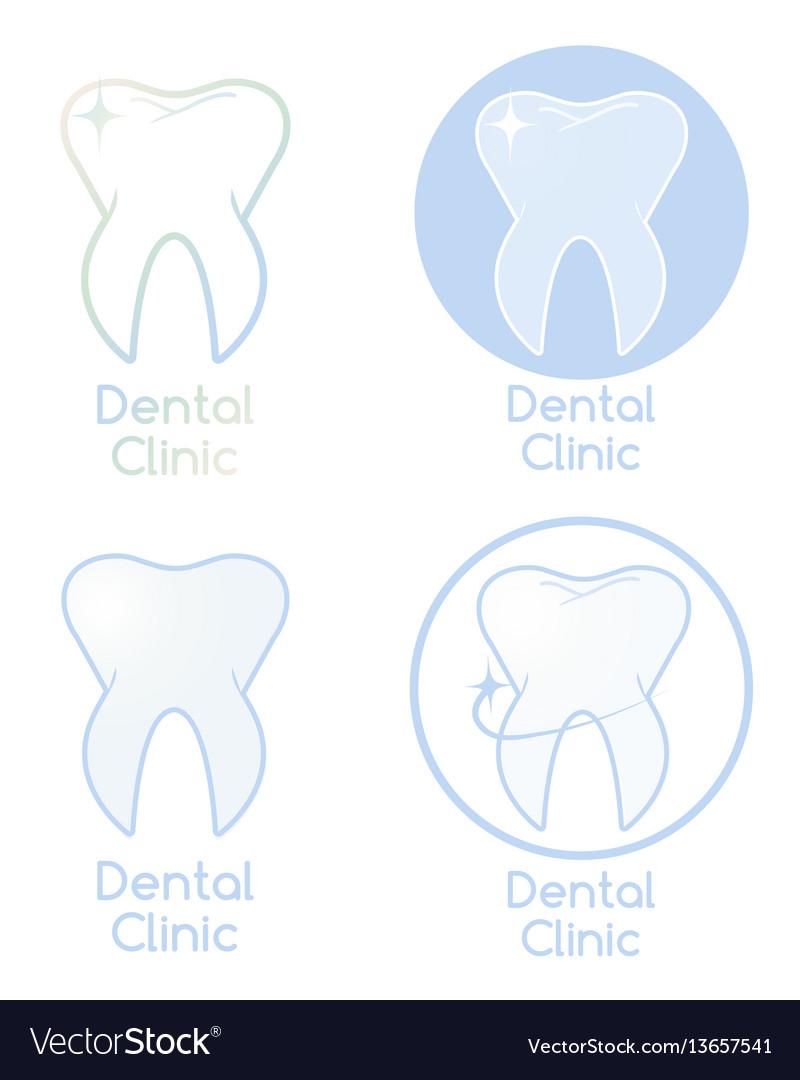 Set of dental clinic logotypes vector image