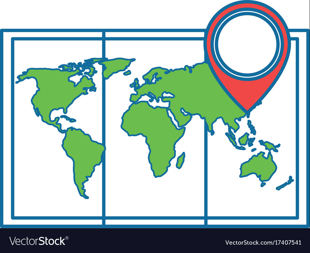 World Map Paper Icon Royalty Free Vector Image