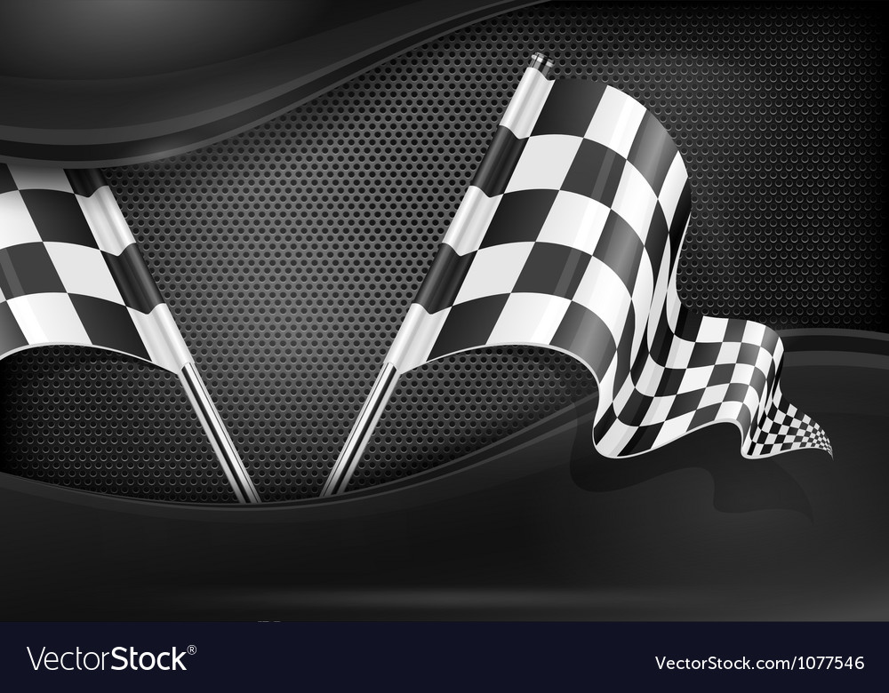 Chequered flag racing background