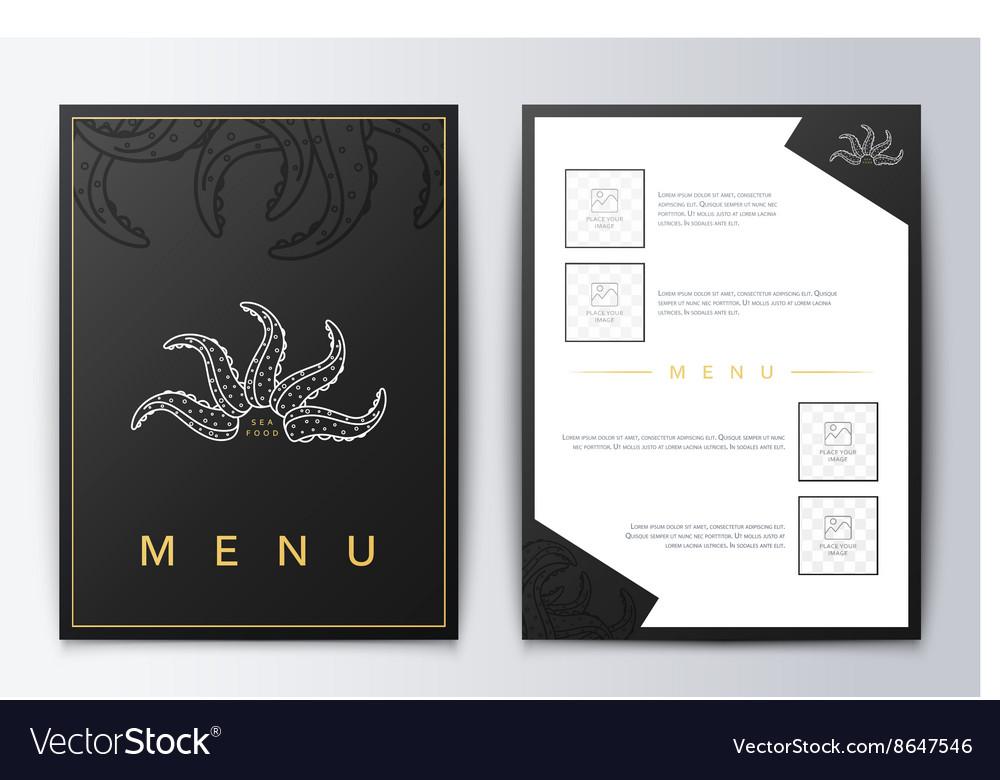 Design menu Brochure culinary menu Menu background