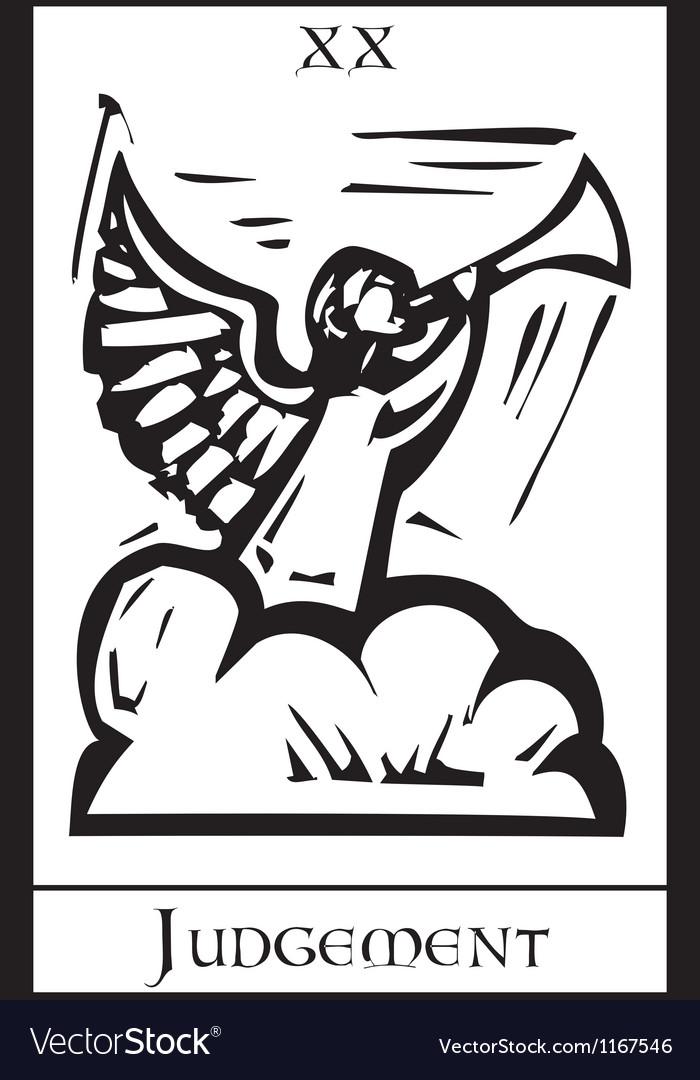 Judgment Tarot Card vector image