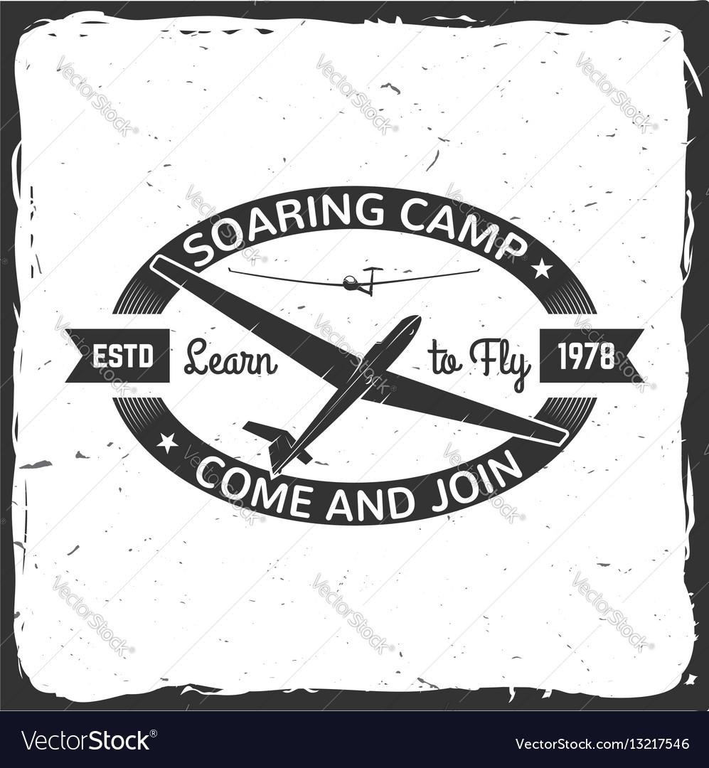 Soaring camp retro badge vector image