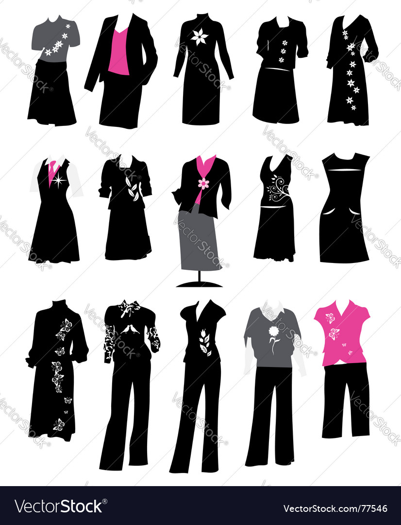 Women S Business Suits Royalty Free Vector Image
