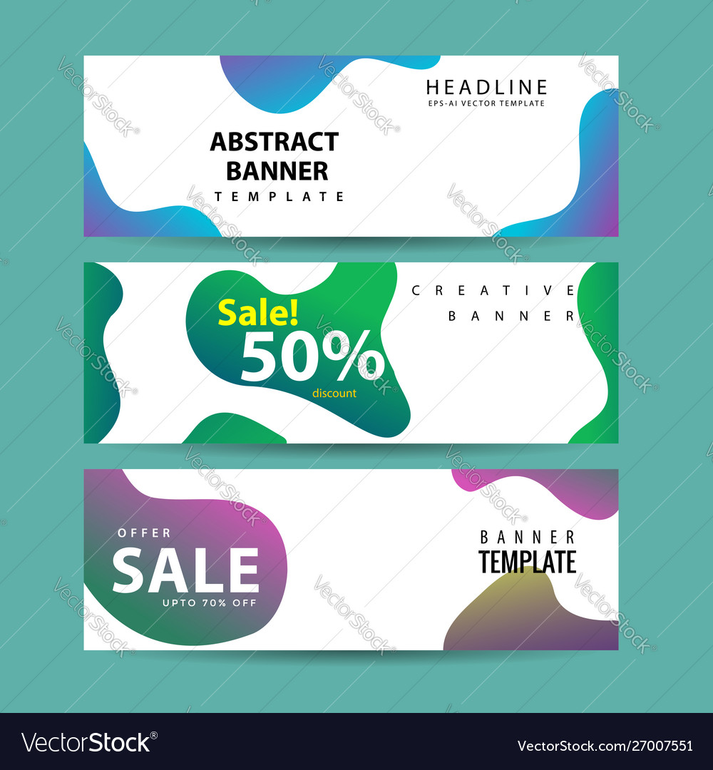 Abstract banner design web template collection of