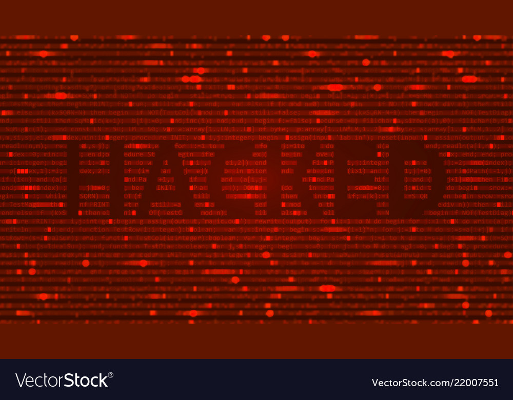 Ascii art background with word hacked