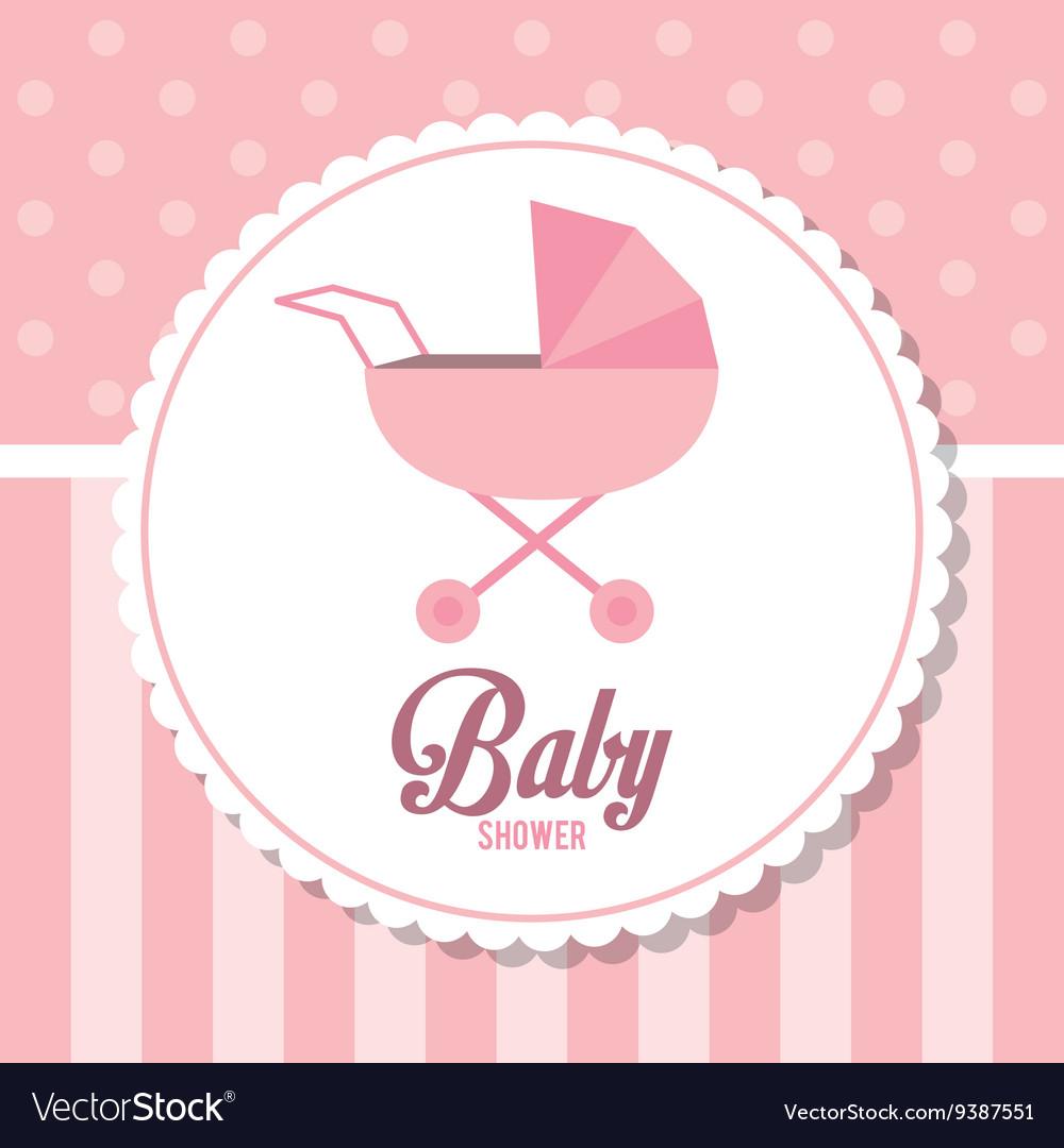 Baby Shower design stroller icon pink