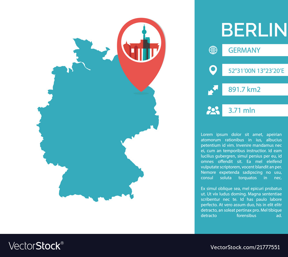 Berlin map infographic