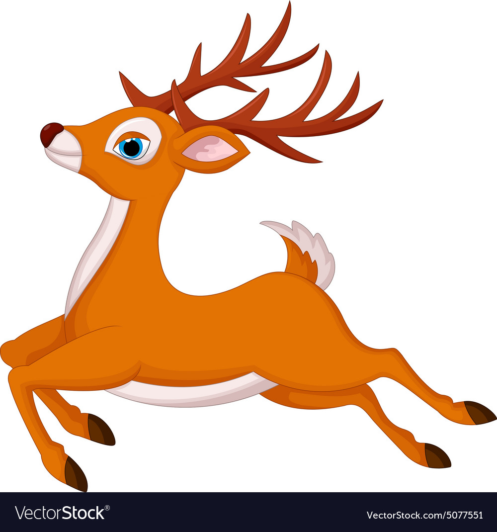 Cartoon deer running