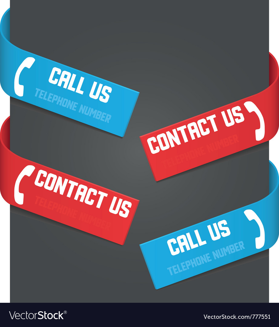 Left and right side signs - call us and contact us