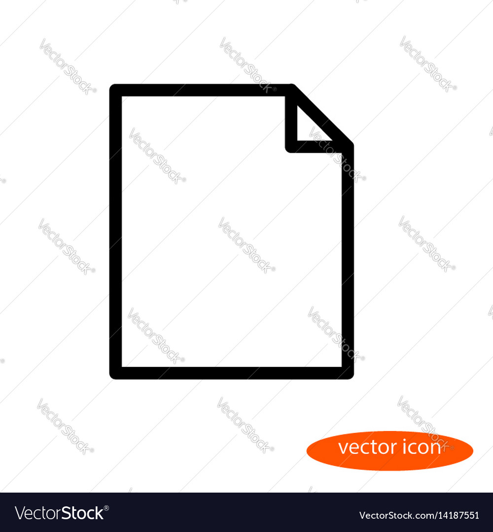 Linear image of a blank sheet of paper a