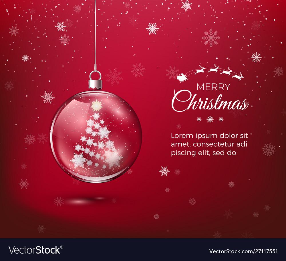 Marry christmas transparent glossy christmas