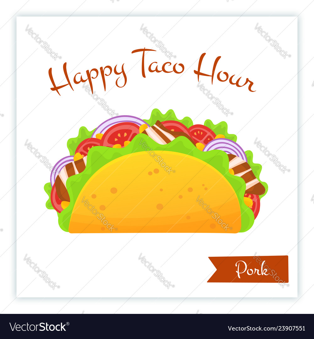 Mexican traditional pork tacos food web banner
