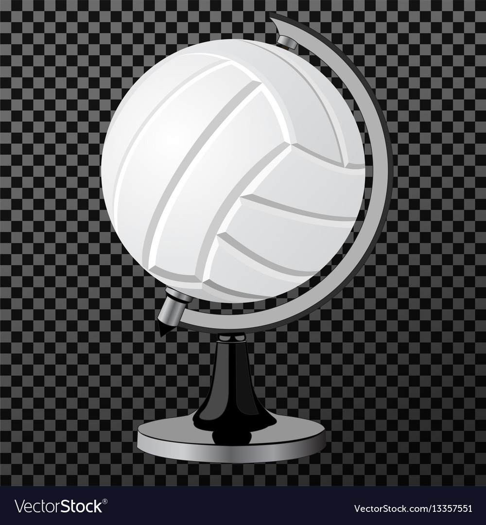 Volleyball a creative concept simple