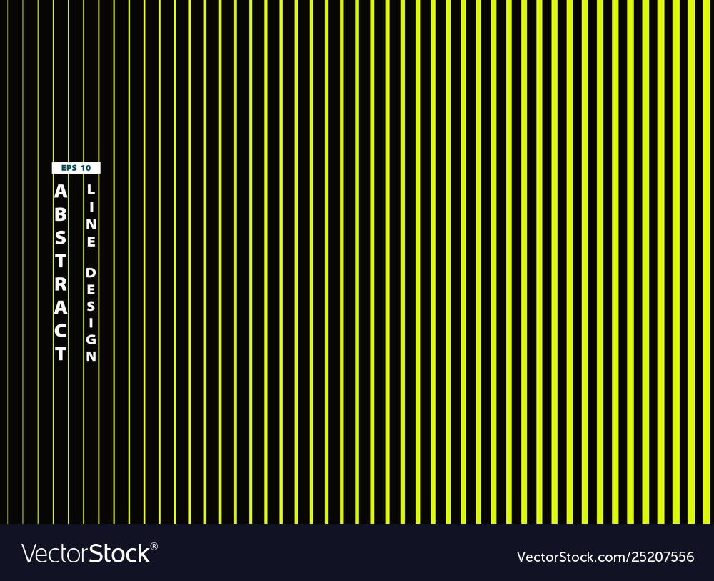 Abstract trendy vivid green line on black