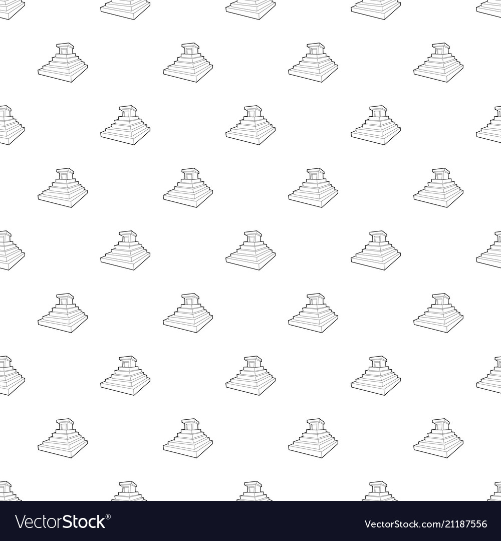 Eastern castle pattern seamless vector image