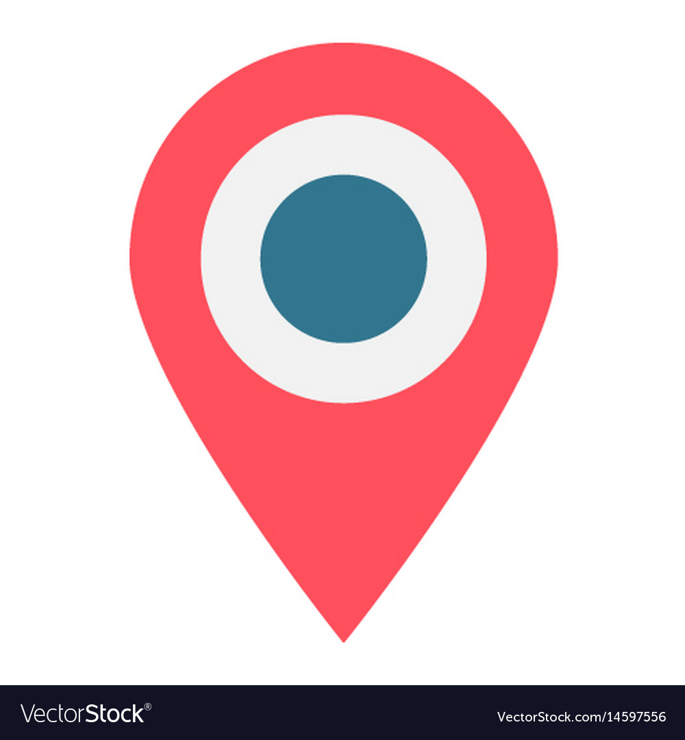 Location Flat Icon Map Pin And Website Button Vector Image - How to pin a map