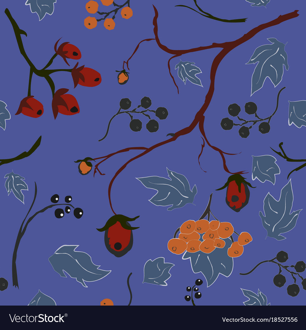 Seamless floral pattern colorful design vector image