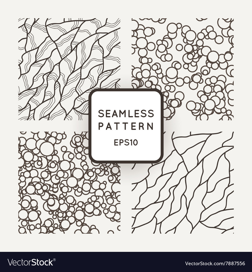 Set of seamless patterns in the style of