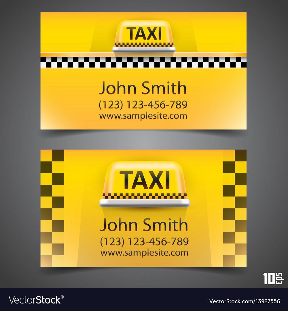 Taxi business card Royalty Free Vector Image - VectorStock