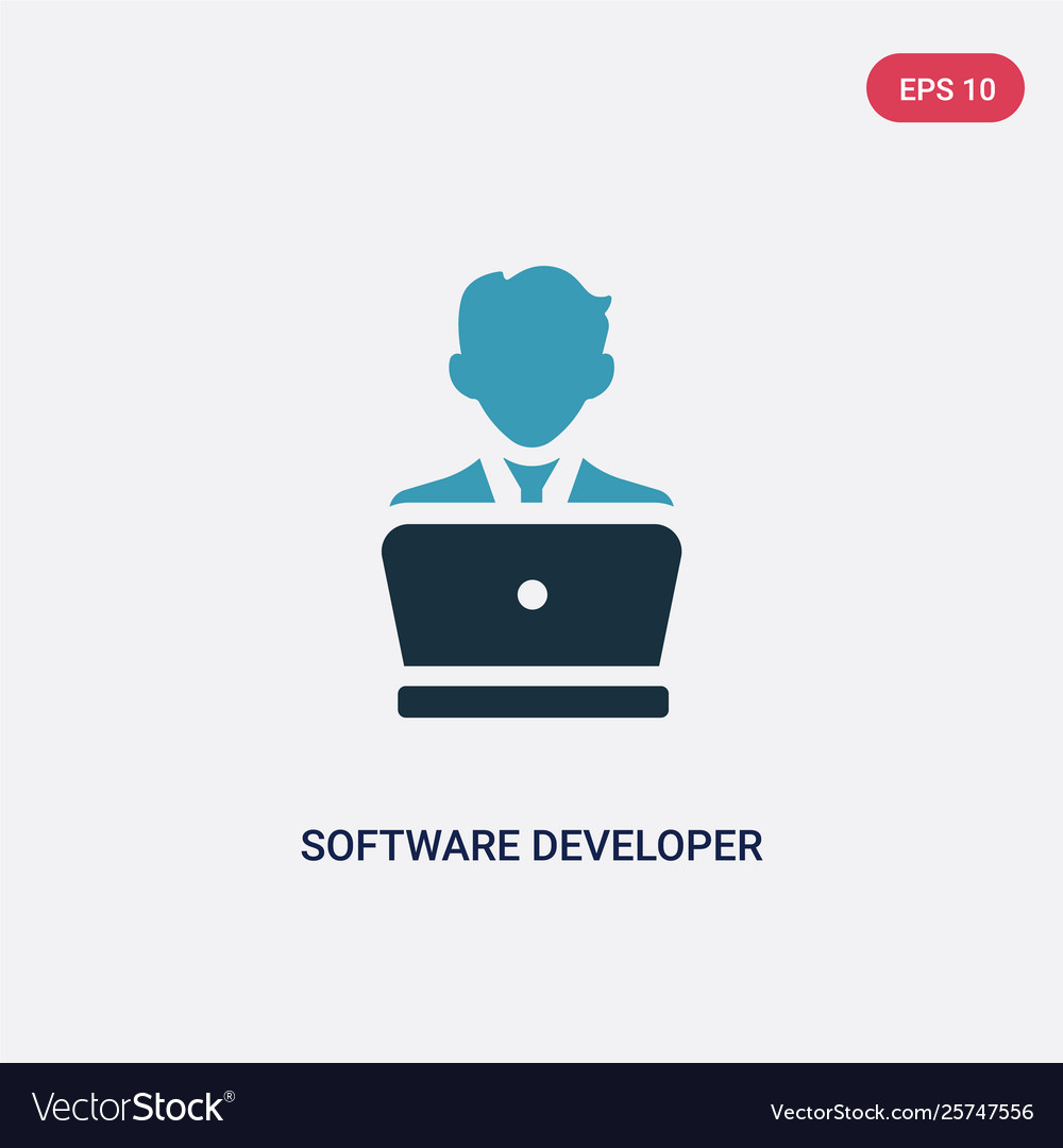 Two color software developer icon from