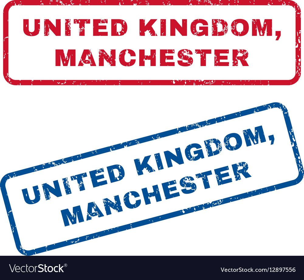 United Kingdom Manchester Rubber Stamps Vector Image
