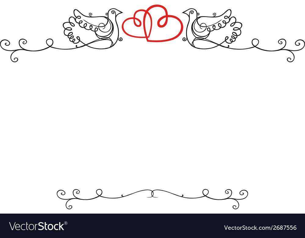 Wedding vintage frame Royalty Free Vector Image