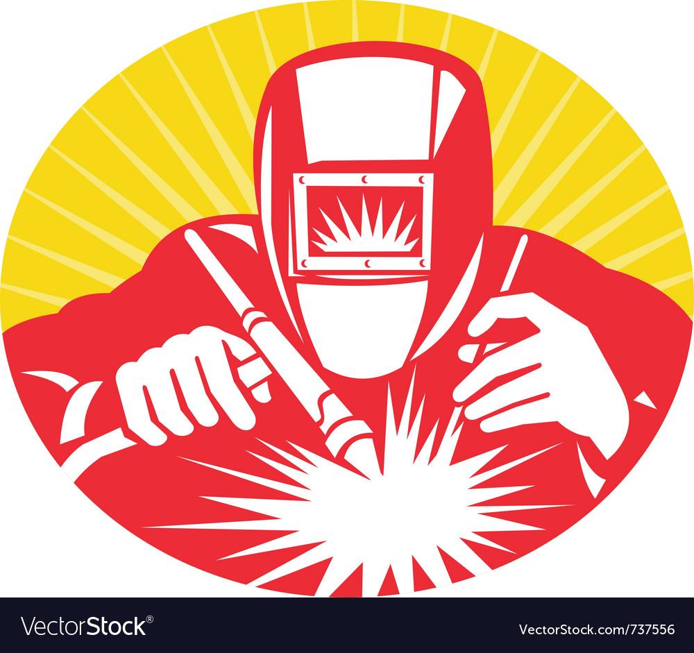 Welder fabricator vector image