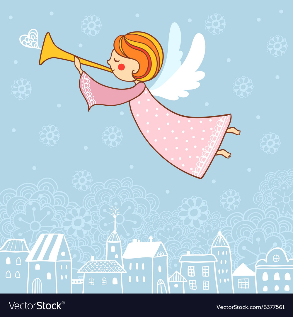 Angels Christmas Cards.Christmas Card With An Angel