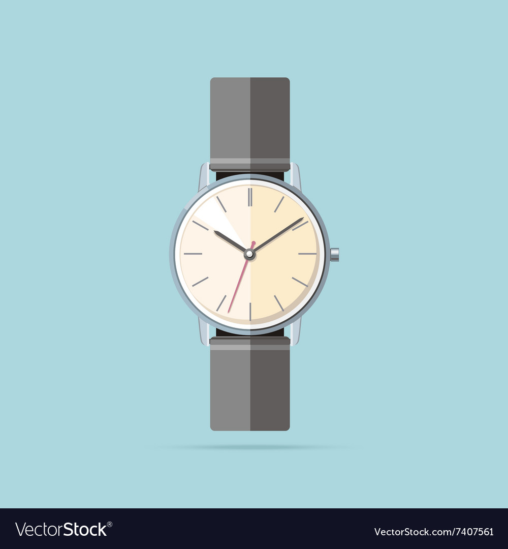Clock Logo Icon Isolated Watch Object