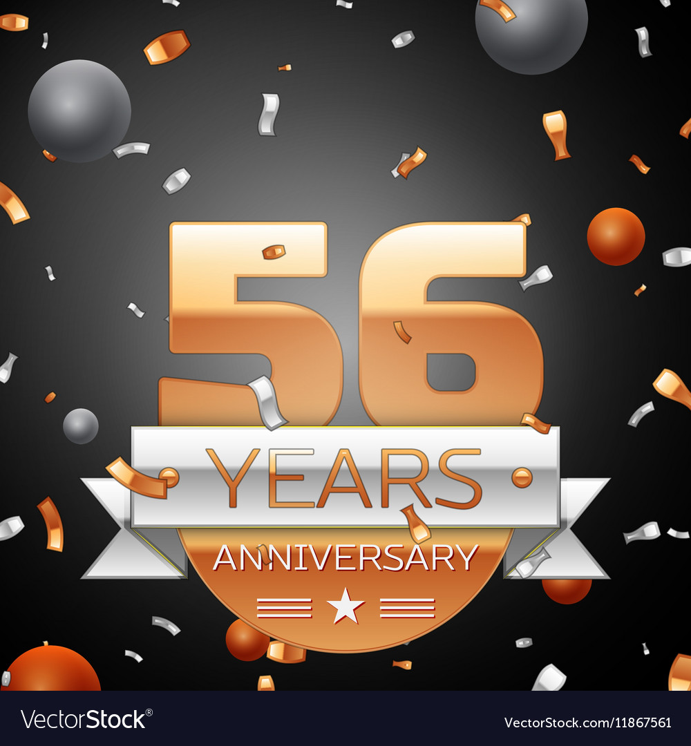 Fifty six years anniversary celebration background