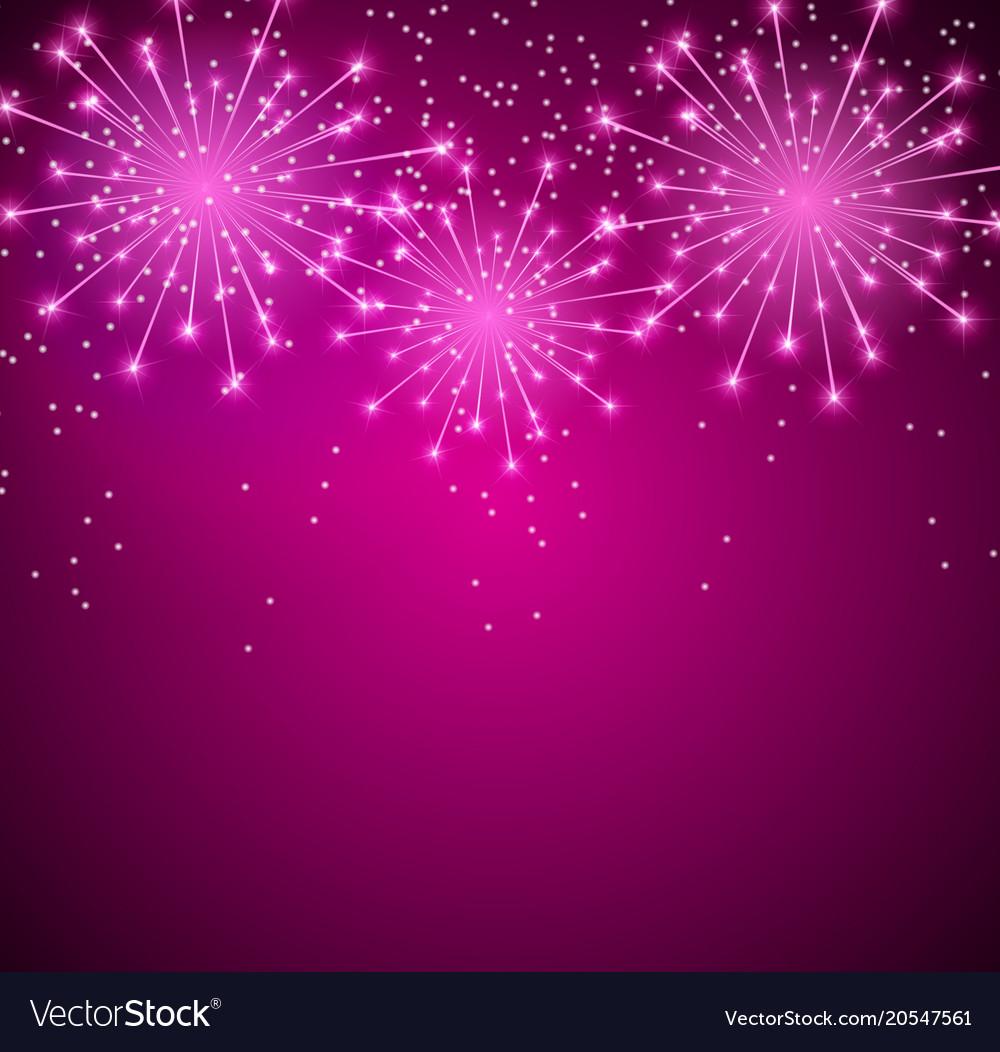 Glossy fireworks background