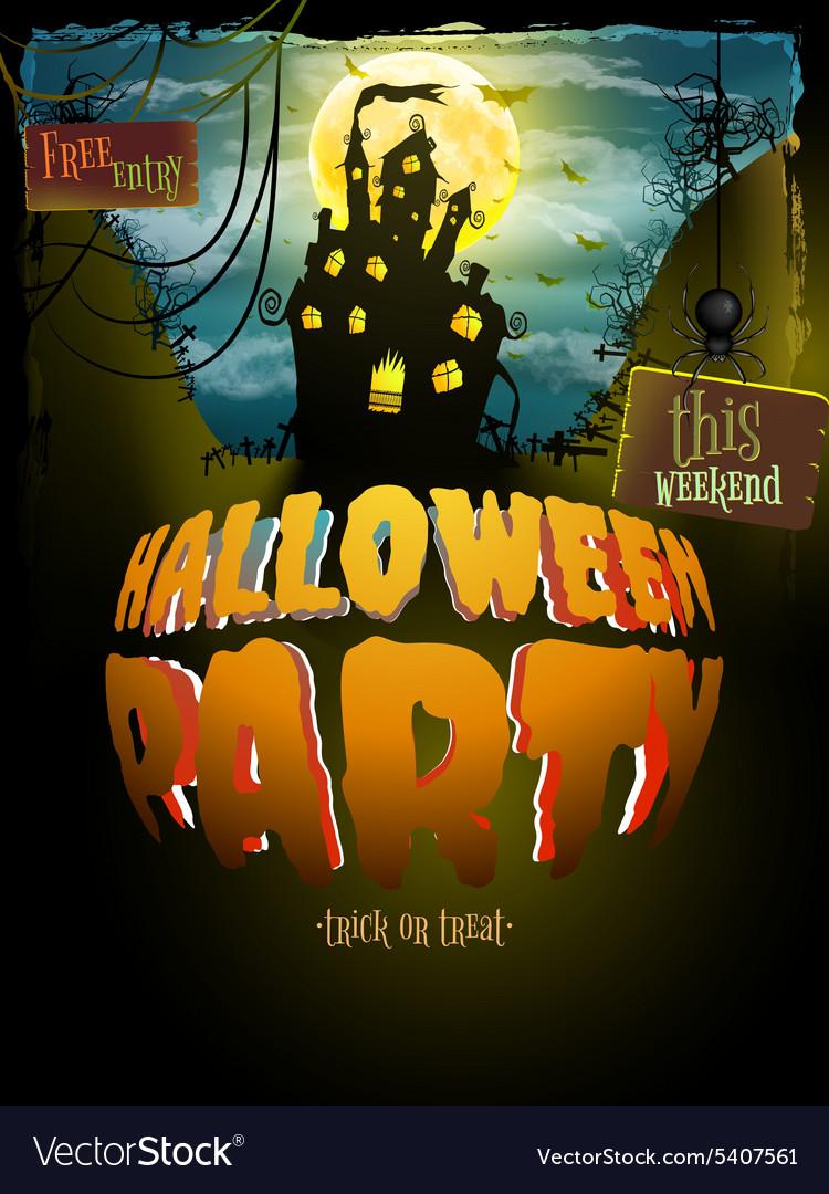 Halloween party EPS 10