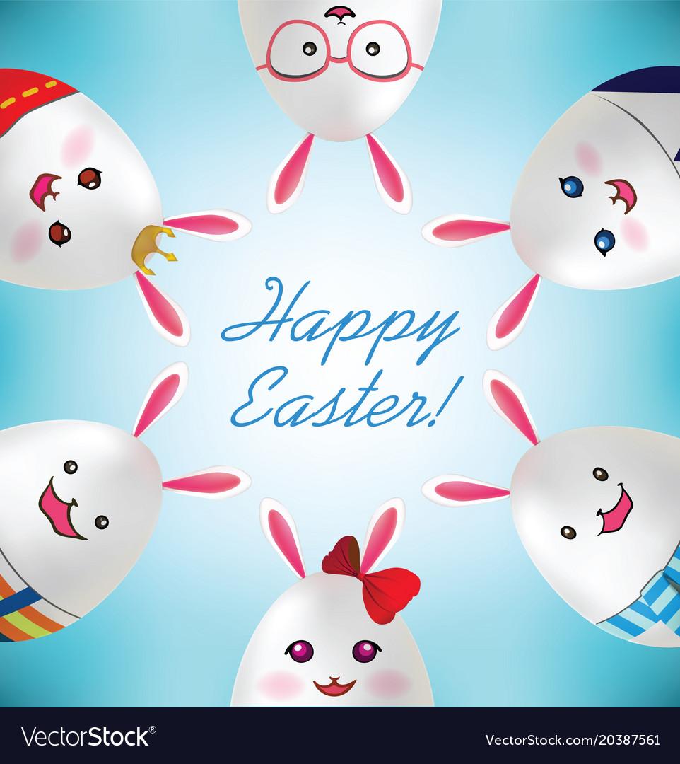 Happy easter easter rabbit egg