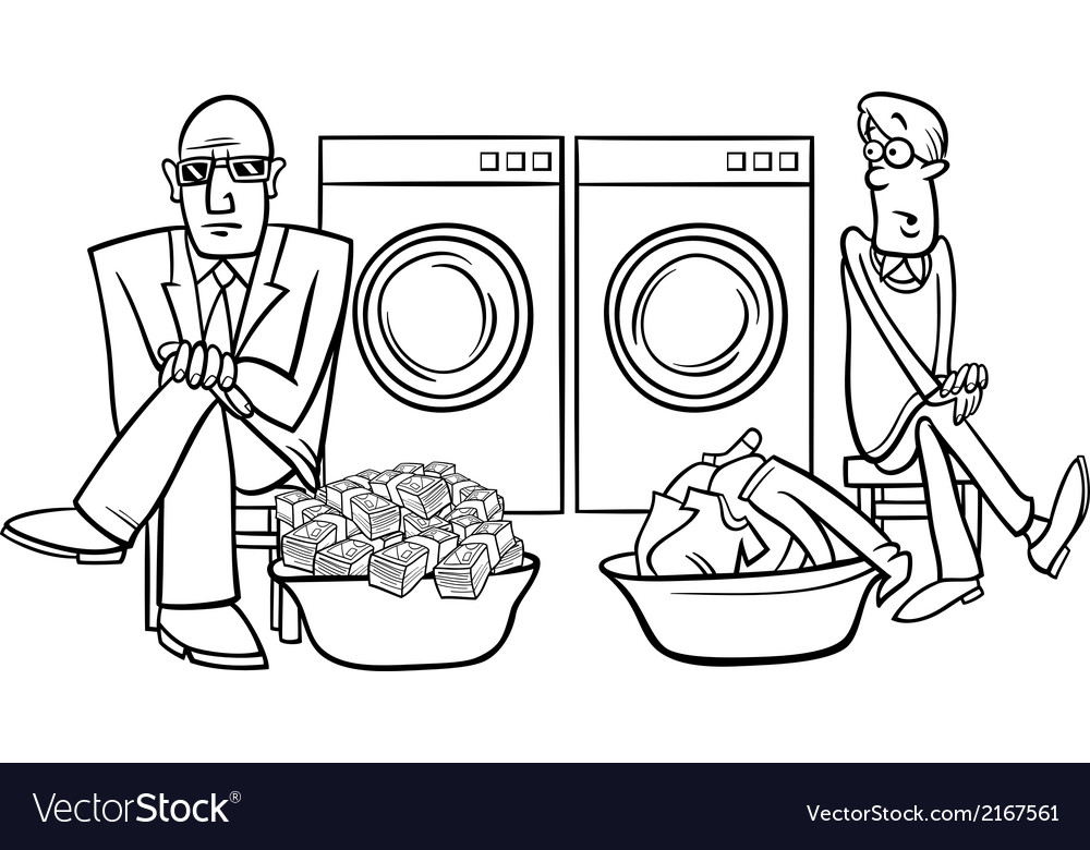Money laundering cartoon vector image