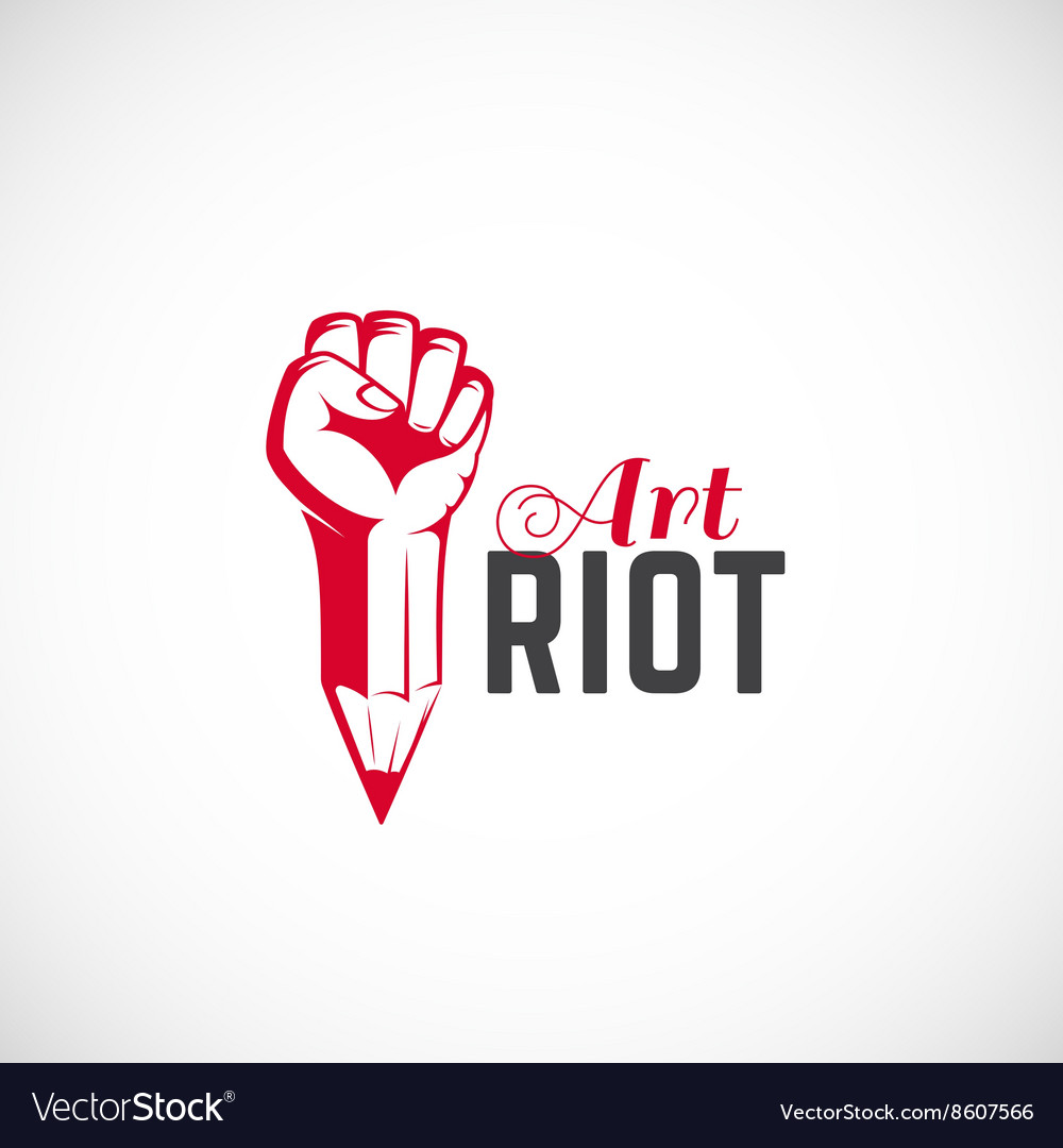 Art Riot Abstract Sign Symbol Icon or