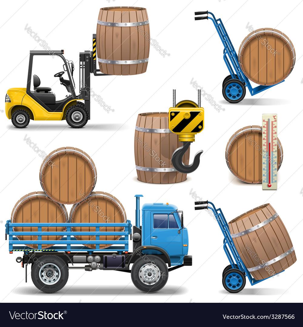 Barrels Shipping Icons