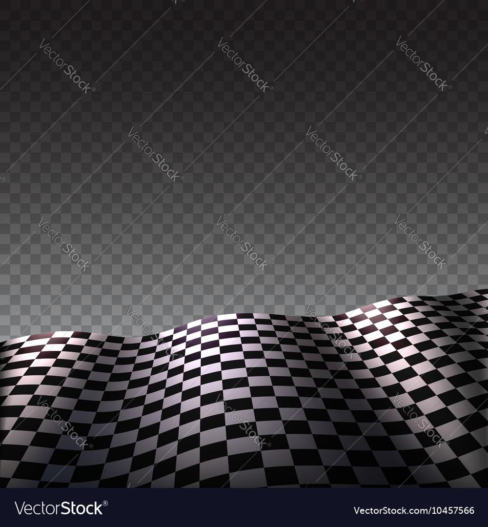 Checkered flag on transparent background