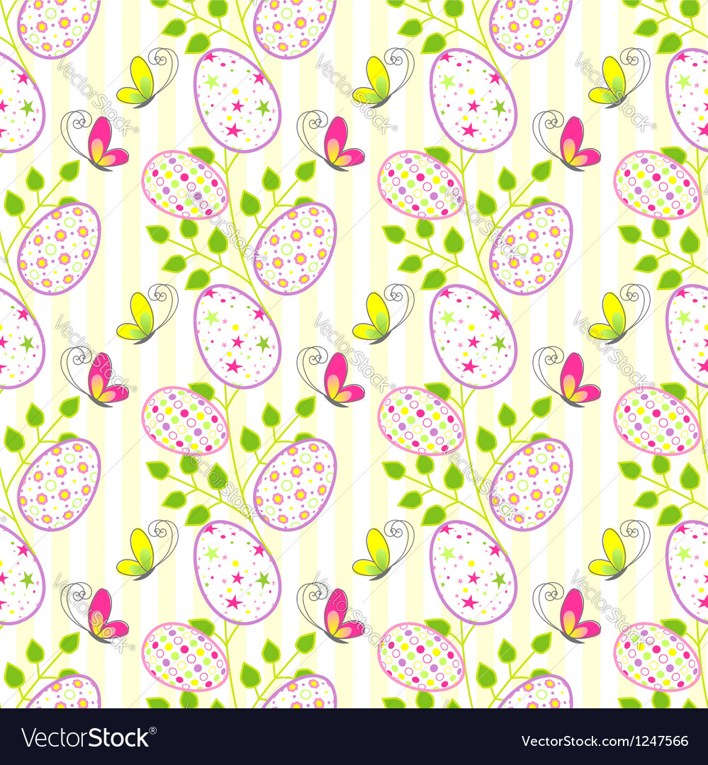 Colorful Easter holiday seamless pattern backgroun vector image