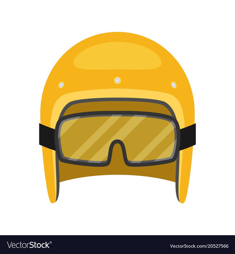 Helmet motorcycle flat style