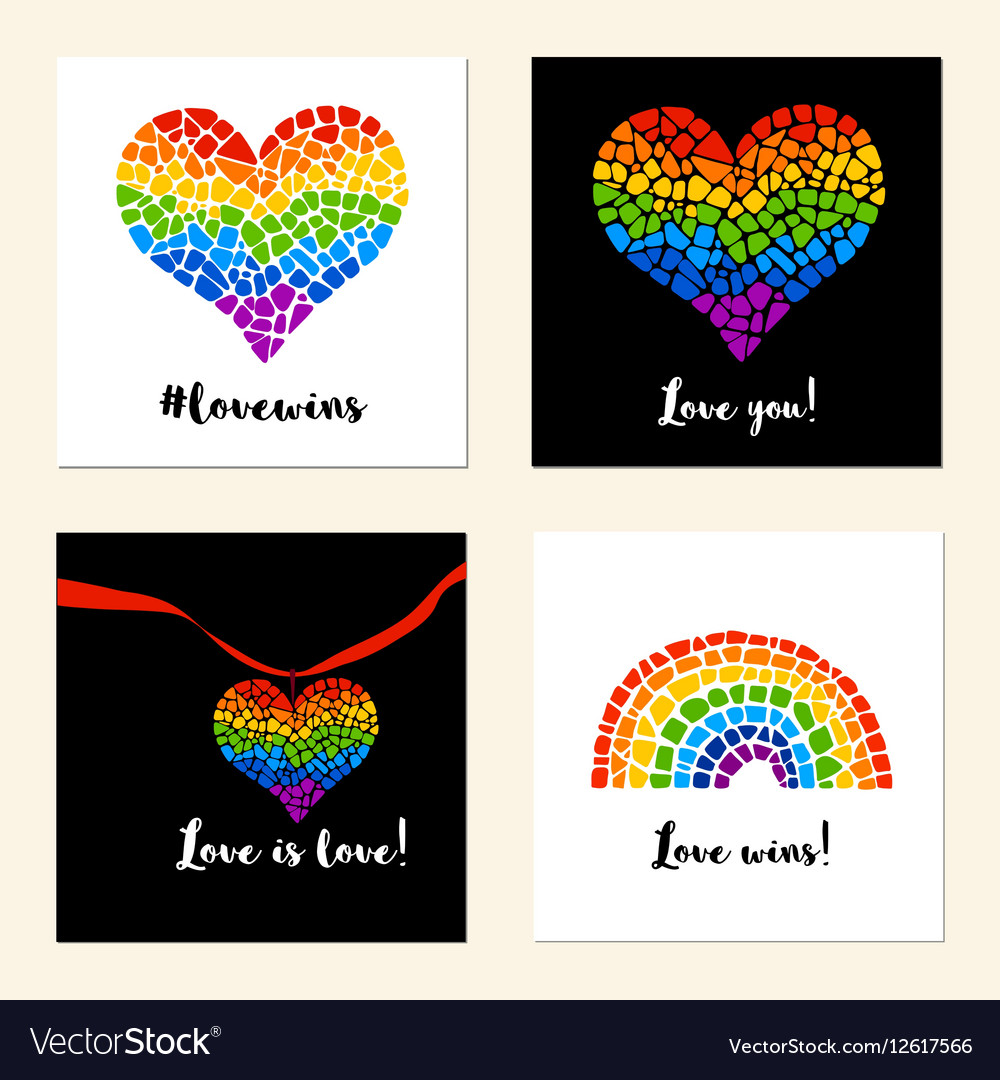 LGBT support posters vector image